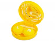 Zubehör - Kontaktlinsen-Etui - Ornament gelb