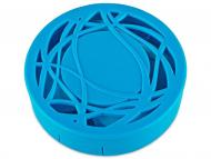 Kontaktlinsen-Etuis mit Spiegel - Kontaktlinsen-Etui - Ornament blau