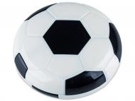 Kontaktlinsen-Etuis mit Spiegel - Kontaktlinsen-Etui Fußball - schwarz