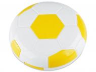 Kontaktlinsen-Etuis mit Spiegel - Kontaktlinsen-Etui Fußball - gelb