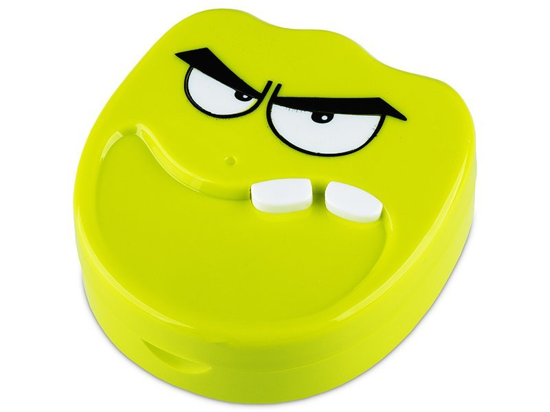 Kontaktlinsen-Etui Lächeln - grün