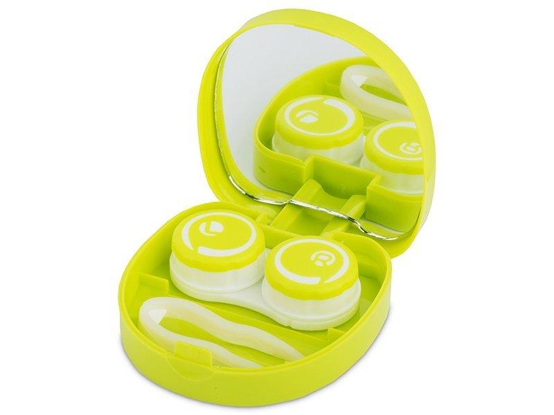 Kontaktlinsen-Etui Lächeln - grün  - Kontaktlinsen-Etui Lächeln - grün