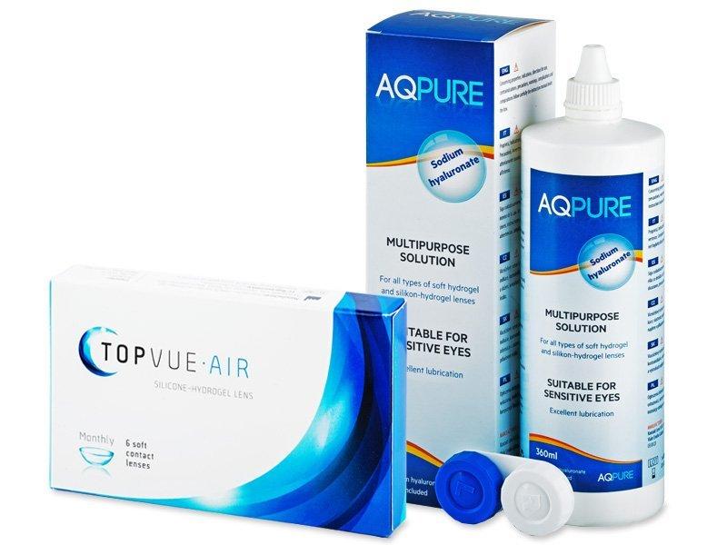 TopVue Air (6 Linsen) + AQPure 360 ml - Spar-Set