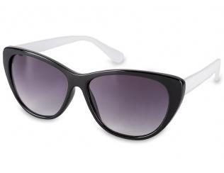 Cat Eye Sonnenbrillen - Sonnenbrille OutWear - Schwarz / Weiß
