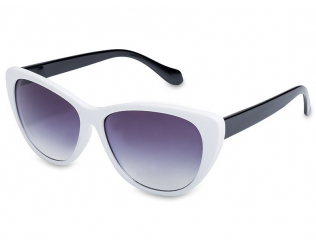 Cat Eye Sonnenbrillen - Sonnenbrille OutWear - Weiß / Schwarz
