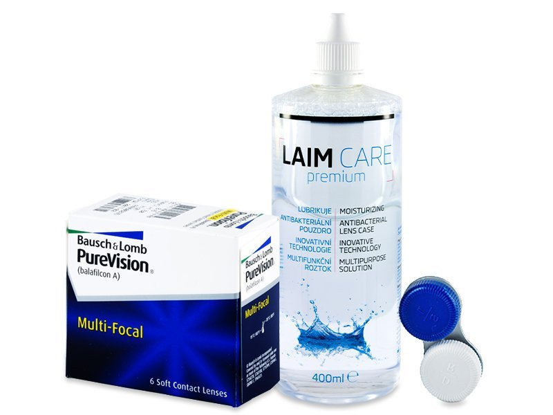 PureVision Multi-Focal (6 Linsen) + Laim Care 400 ml - Spar-Set