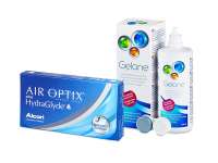 Air Optix plus HydraGlyde (6 Linsen) + Gelone 360 ml