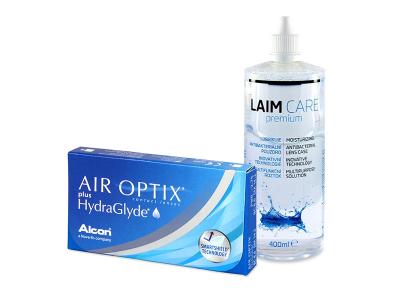 Air Optix plus HydraGlyde (6 Linsen) + Laim-Care 400 ml