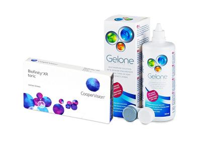 Biofinity XR Toric (3 Linsen) + Gelone 360 ml