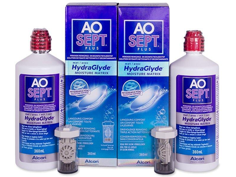 Pflegelösung – günstigeres Duo Pack - AO SEPT PLUS HydraGlyde 2 x 360ml