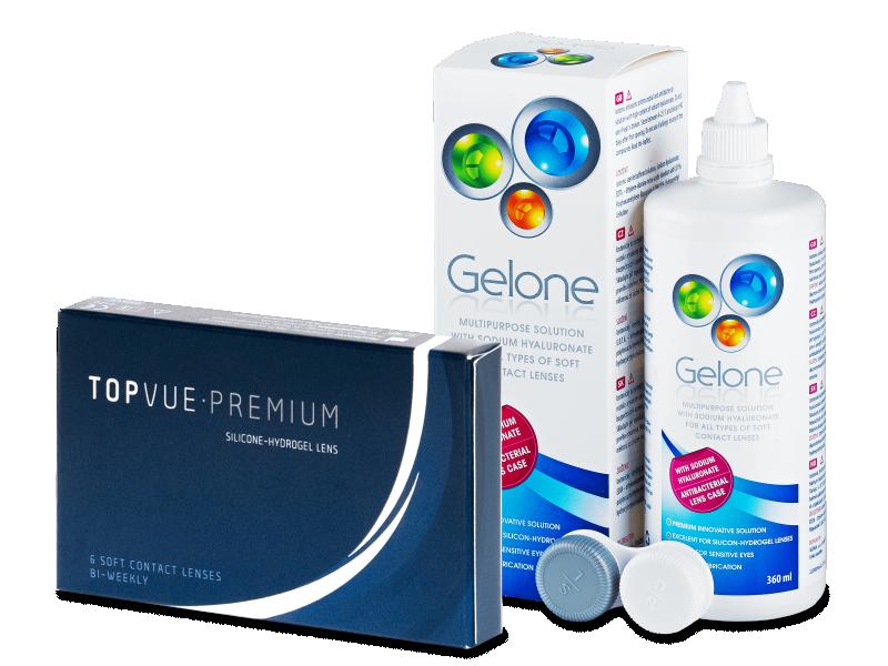 TopVue Premium (6Linsen) + Gelone360ml - Spar-Set