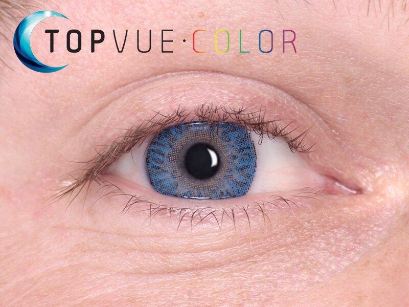 """TopVue Color - mit Stärke (2Linsen) - """"True Sapphire"""" bei einer blauen Augenfarbe"""