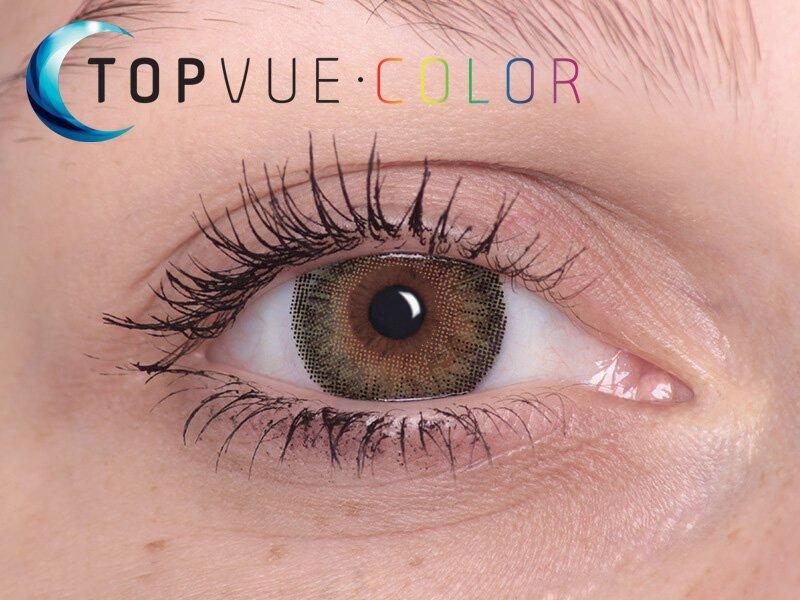 """TopVue Color - mit Stärke (2Linsen) - """"Green"""" bei einer braunen Augenfarbe"""