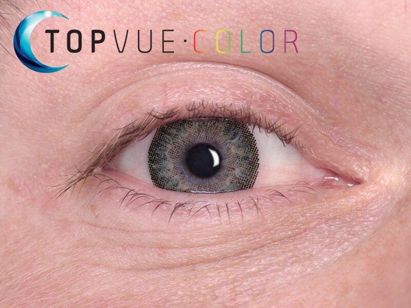 """TopVue Color - mit Stärke (2Linsen) - """"Green"""" bei einer blauen Augenfarbe"""