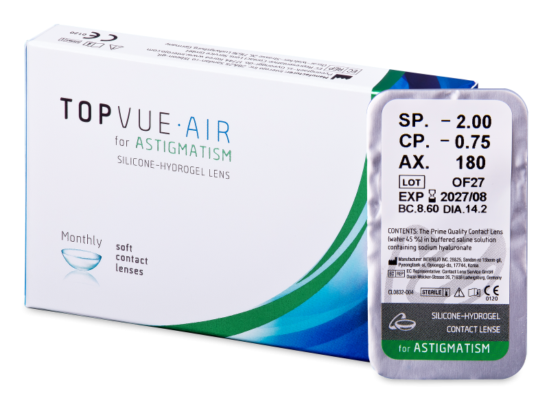 TopVue Air for Astigmatism (1Linse) - Torische Kontaktlinsen