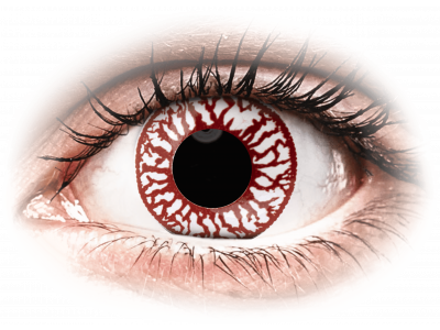 ColourVUE Crazy Lens - Blood Shot - Tageslinsen ohne Stärken (2Linsen)