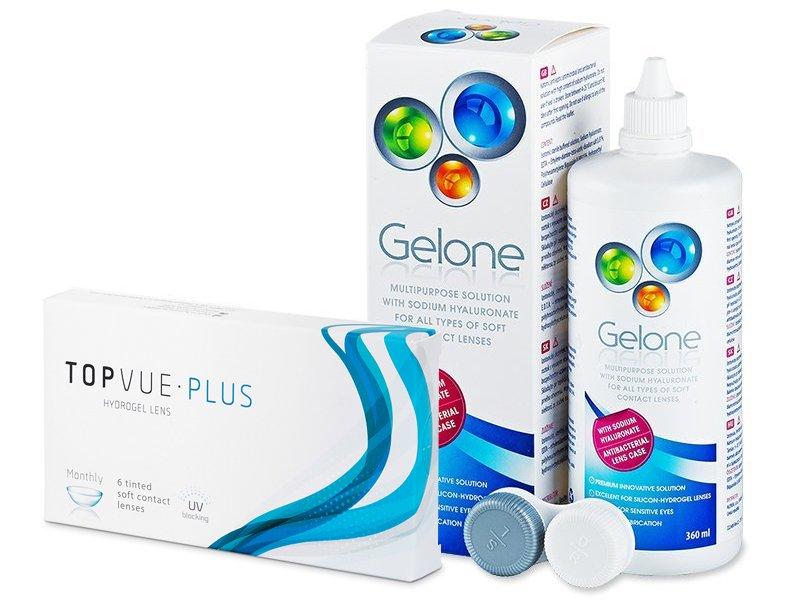 TopVue Plus (6 Linsen) + Gelone 360 ml - Spar-Set