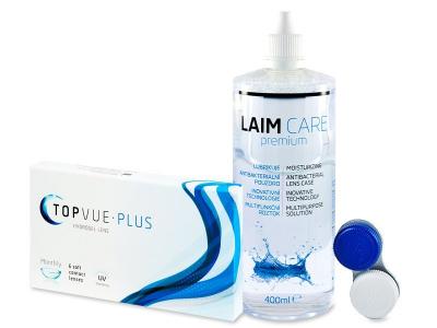 TopVue Plus (6 Linsen) + Laim CarePflegemittel 400ml - Älteres Design
