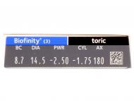Biofinity Toric (3Linsen) - Vorschau