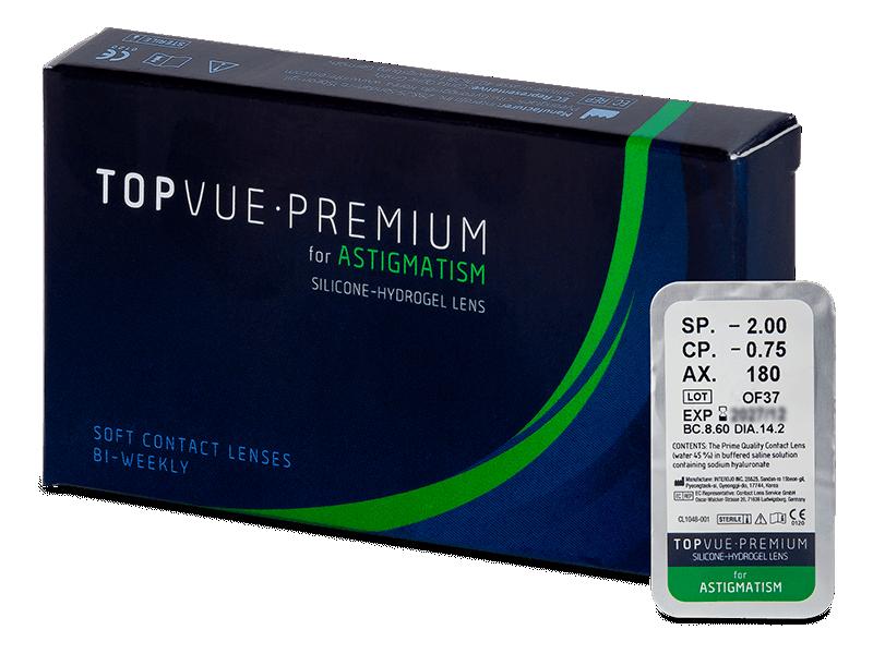 TopVue Premium for Astigmatism (1Linse) - Torische Kontaktlinsen
