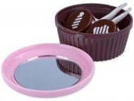 Kontaktlinsen-Etuis mit Spiegel - Kassette mit Spiegel Muffin - rosa