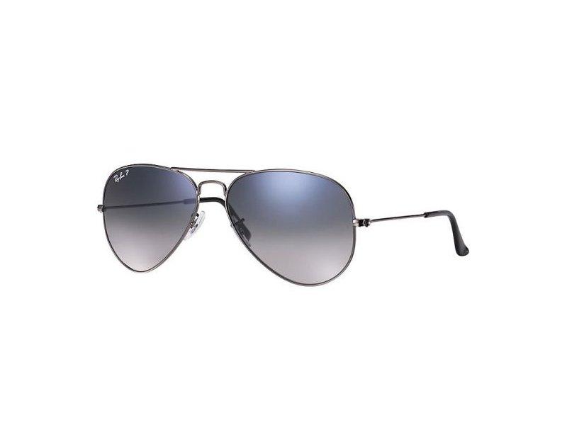 silberne ray ban aviator sonnenbrille mit blauen gl sern. Black Bedroom Furniture Sets. Home Design Ideas