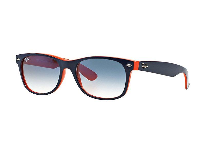orange blaue ray ban wayfarer sonnenbrille mit blauen. Black Bedroom Furniture Sets. Home Design Ideas