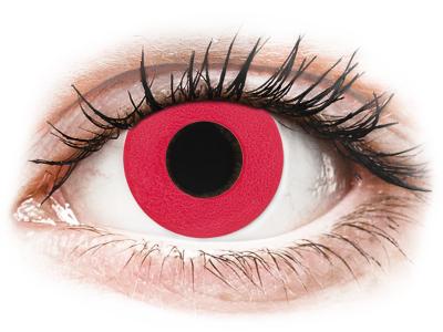 CRAZY LENS - Solid Red - Tageslinsen ohne Stärke (2 Linsen)