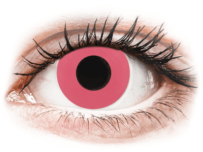 CRAZY LENS - Solid Rose - Tageslinsen ohne Stärke (2 Linsen)