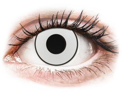 CRAZY LENS - White Black - Tageslinsen mit Stärke (2 Linsen)