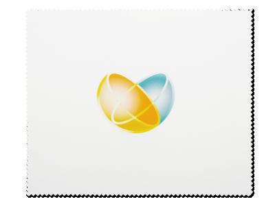 Brillenreinigungstuch – Weiß mit unserem Logo
