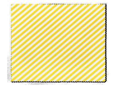 Brillenreinigungstuch - gelbe und weiße Streifen