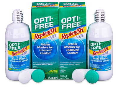 OPTI-FREE RepleniSH 2 x 300 ml  - Economy duo pack- solution