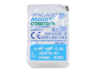 1 Day Acuvue Moist Multifocal (30 Linsen) - Blister pack preview