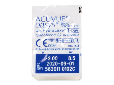 Acuvue Oasys 1-Day with Hydraluxe (90 Linsen) - Blister Vorschau