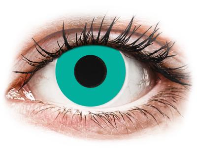 CRAZY LENS - Solid Turquoise - Tageslinsen ohne Stärke (2 Linsen)