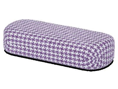 Etui mit Hahnentrittmuster weiß und violett