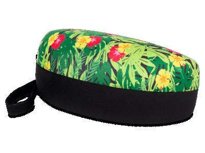 Brillenetui mit floralem Design