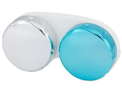 Linsenbehälter mit Spiegeleffekt - blau