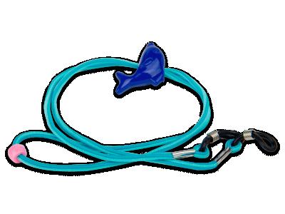 Brillenband blau - Delphin