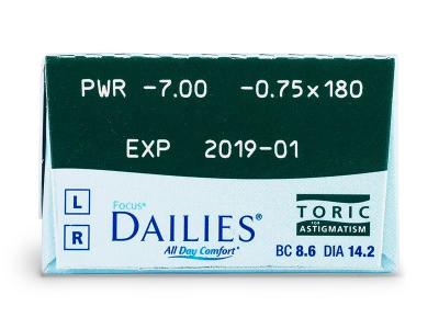 Focus Dailies Toric (30Linsen) - Vorschau