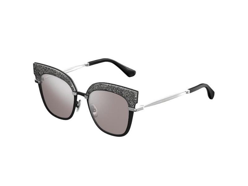 JIMMY CHOO Jimmy Choo Damen Sonnenbrille » ROSY/S«, schwarz, IXA/FU - schwarz/ silber