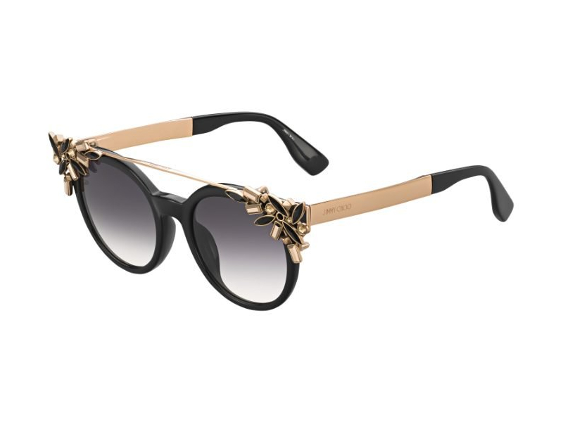 JIMMY CHOO Jimmy Choo Damen Sonnenbrille » VIVY/S«, schwarz, 06K/9C - schwarz/grau