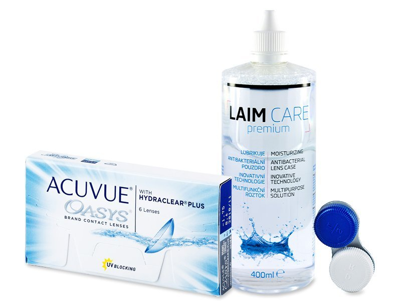 Acuvue Oasys (6Linsen) + Laim Care 400ml - Spar-Set