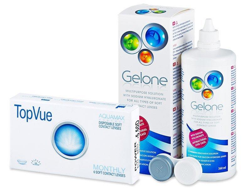 TopVue Monthly (6Linsen) + Gelone 360ml - Spar-Set