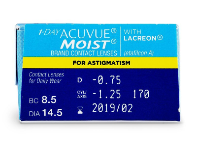 1 Day Acuvue Moist for Astigmatism (30Linsen) - Vorschau
