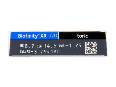 Biofinity XR Toric (3 Linsen) - Vorschau
